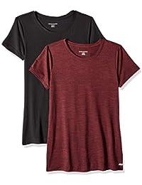 Amazon-Marke: Amazon Essentials Damen 2-Pack Tech Stretch Short-Sleeve Crewneck T-Shirt