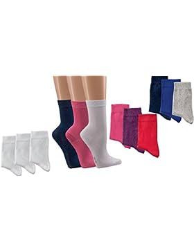 3 paia di calzini in UNI-colori per ragazze e ragazzi