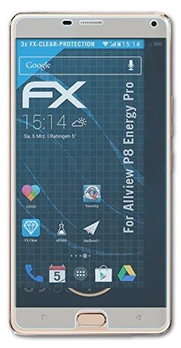 atFolix Schutzfolie kompatibel mit Allview P8 Energy Pro Folie, ultraklare FX Bildschirmschutzfolie (3X)