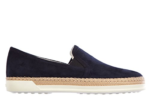 tods-womens-suede-slip-on-sneakers-rafia-blu-uk-size-7-xxw0tv0j970hr0u824