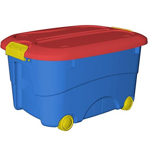 WILAIN Sanos PP Materias Primas for niños Superman Caja de Almacenamiento de Gran Capacidad 60L Espesa...