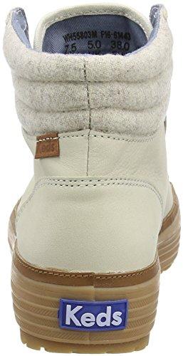 Keds Damen High Rise Lea Wool Chelsea Boots Elfenbein (Cream)