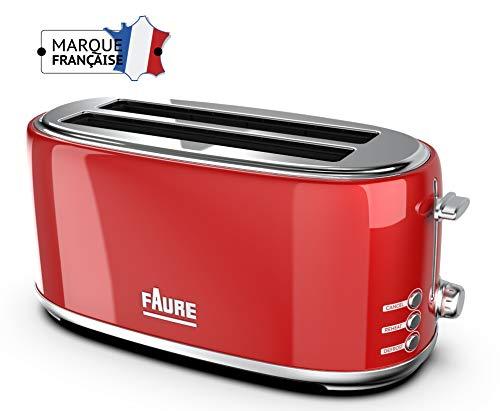 Faure FT2L-1641 Grille Pain, Rouge