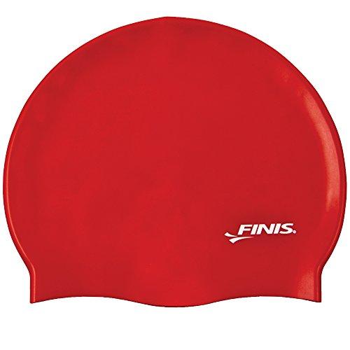 Finis silicone cuffia nuoto, rosso