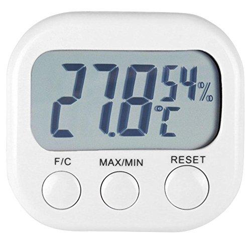 Thermomètre Hygromètre Numérique,vanpower Appareil de contrôle extérieur d'intérieur de station météorologique d'hygromètre de thermomètre d'affichage à cristaux liquides de Digital
