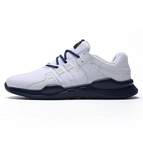 87shoes Scarpe da Corsa da Uomo Scarpe da Ginnastica Leggere Scarpe Stringate Sportive Bianco / blu