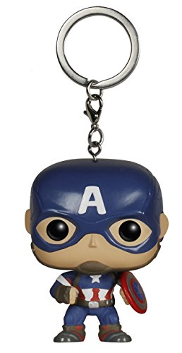 Funko 192 - Pocket Pop Keychain, Marvel - Avengers 2 - Captain America Figur (Captain America Dekorationen)