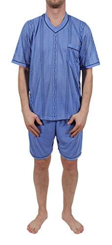 Herren Pyjama kurz, Schlafanzug, Nachthemd, Shorty Gr. M - XXXL Hellblau