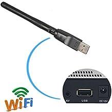 Adaptador de red USB WIFI Conexión para MAG 250 254 255 260 270 275,V7 V8 serie,Ordenador de Windows 10, 8, 7, XP, Vista,Linux, 2.4 GHz, 150 Mbps, puerto Fast Ethernet, modo AP y extensor, antenas internas,RT5370 Chipset
