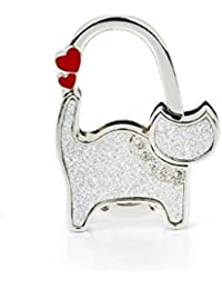 ma-on plegable bolsa bolso de mano mesa gancho colgador (gato), color plateado