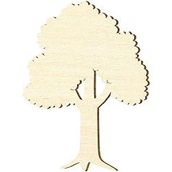 Bütic GmbH Sperrholz Zuschnitte - Laubbaum, Baum - Größenauswahl - Pappel 3mm, Größe:Höhe 20cm