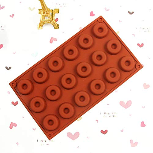 Shape Round - Gift 18 Cavity Diy Donut Shape Round Muffin Sweet Candy Jelly Fondant Cake Chocolate Mold Silicone - Heart Half Holes Rachel Baking Mold Tray Wire Multi Cleaner Circle Donuts Square Calphalon Square Pan