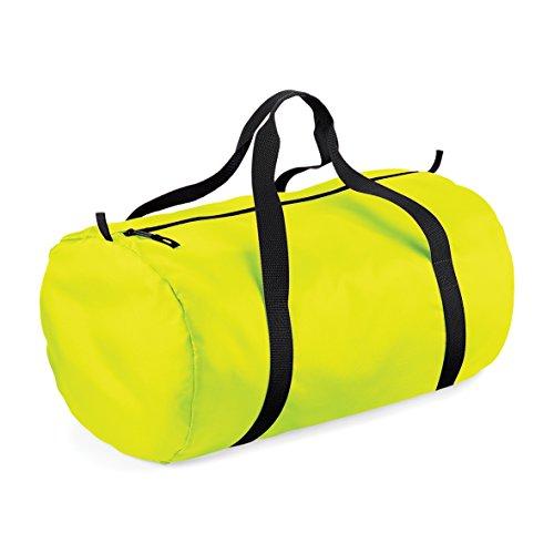 Bag barile Packaway Fluorescent Yellow/ Black