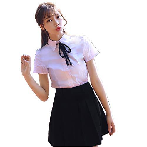 HugAzure Japanischen Anime Kleidung Kostüm Klassische Matrosenanzug Sommer kurz Mädchen Schüler Schuluniformen JK Cosplay-04S (Für Mädchen Seemann-kostüm)