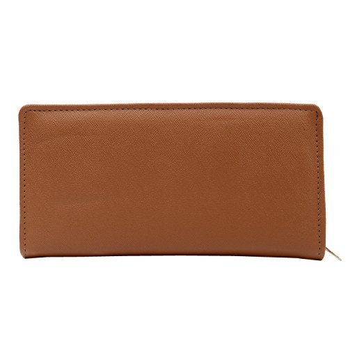 Bagaholics Girls Wallet Front Mobile Pouch Ladies Purse Hand Clutch Gift for Women ( Brown )