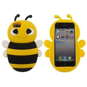Schöne gelb 3D Bienenform Weich Silikon Gel Schutzhülle für Apple iPhone 5/5s