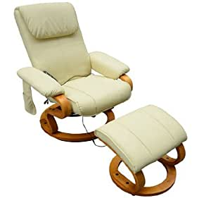 Massagesessel TV Sessel Fernsehsessel Relaxsessel mit Heizfunktion inkl. Hocker