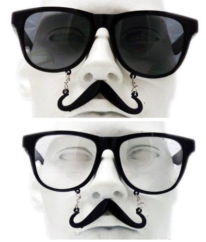 Brille mit Schnurrbart (Gläser Klar) (Schnurrbart Und Gläser)