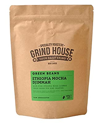 Grind House Ethiopia Mocha Djimmah Green Coffee Beans for home roasting 400g from Grind House Speciality Roasters