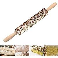 symboat rodillo repostería modelo de regalo de Navidad partido el rodillo de para las galletas de pan de jengibre de cocina de DIY