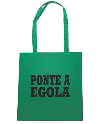 T-Shirtshock - Borsa Shopping WC0980 PONTE A EGOLA ITALIA CITTA STEMMA LOGO Verde