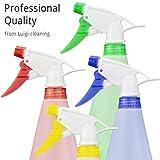 Luigi Fontanería 4x plástico Gatillo botellas de Spray–de grosor, vacío & Heavy Duty (750ml)/, con boquilla ajustable y asas de colores