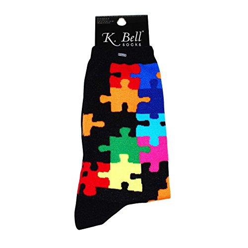 K. Bell - Calcetines de mujer Mah Jong Jigsaw Puzzle 9-11