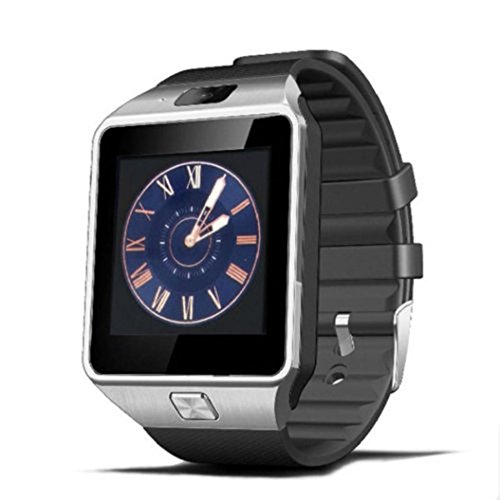 Familizo 1PC Bluetooth Smart Watch DZ09 GSM Smartwatch For Android Phone (☆Silver)