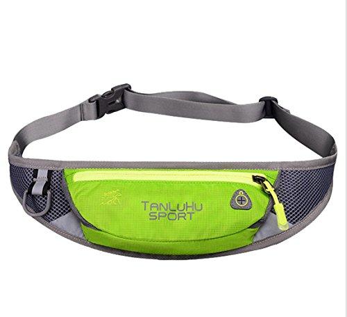 lethigho leicht Schweiß-Running Gürtel Fanny Pack Casual Outdoor Race Belt Sport Bum Bag Radfahren Wandern Taille Pack Läufer Gürtel Taille Tasche für Handy und andere Essentials Green1