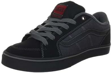 Vans Transistor VKXT6EZ, Herren Klassische Sneakers, Schwarz ((Textile) black/chili), EU 40 (US 7.5)