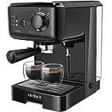 Kaffeemaschine 15 Bar Espressomaschine 1140W für 2 Tassen Kaffeevollautomat mit 1.25L Abnehmbarer Wassertank Milchaufschäumdüse für Espresso Cappuccino Latte MEHRWEG von ELEHOT