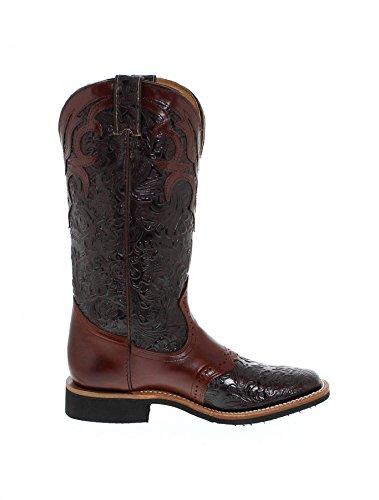 Brown Chestnut Westernreitstiefel Brown Weite C für Boots Boulet Chestnut Braun 4752 Damen FB Fashion qUxwYH