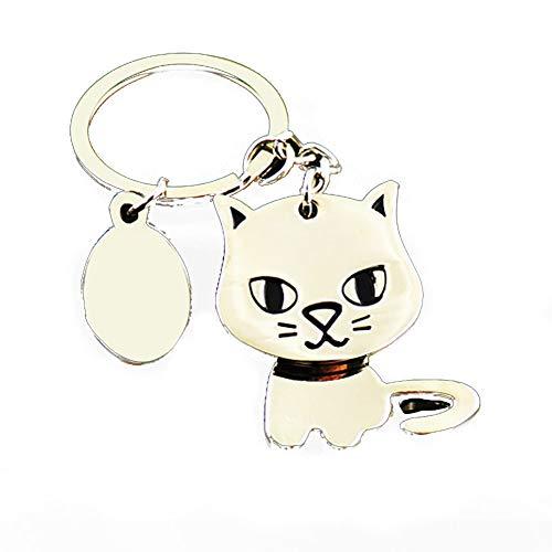 Deanyi Gato lindo gatito llavero Llavero Key monedero