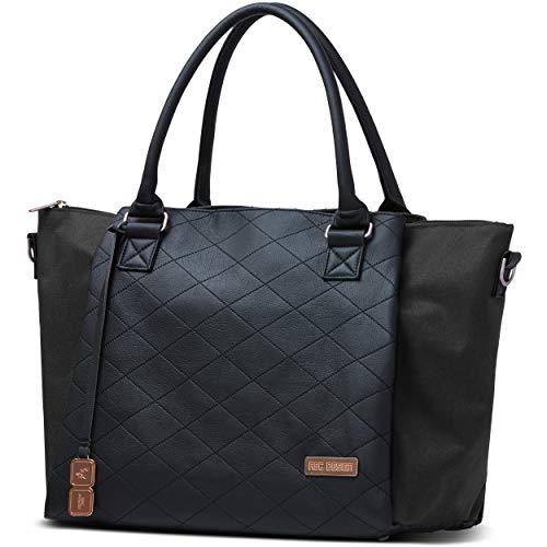 ABC Design Wickeltasche Royal - Handtasche mit Baby Zubehör - Auch zum Umhängen - Melange Stoff & Leder-Imitat - Farbe: Diamond Edition Rose Gold