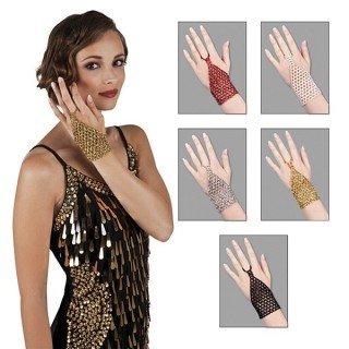Perlen Choker und Finger Handschuh Griechische Göttin Fancy Kleid Zubehör multi