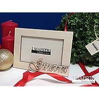 Regalo di Natale personalizzato - Cornice portafoto 10x15 cm con nome