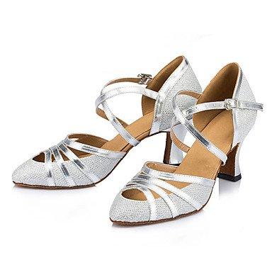 Pas Aemember Izable Donne Des Chaussures De Danse Latine / Chunky Heel Sneakers Pratique Argent, Us6 / Eu36 / Uk4 / Cn36