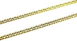 Collana Oro Giallo 18kt (750) Catena Maglia Rombo Uomo Donna Bambini