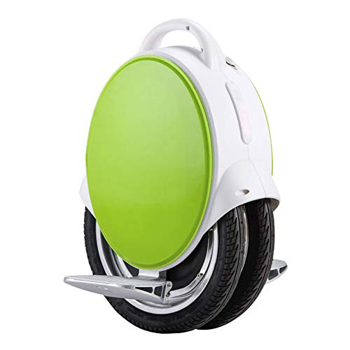 HOPELJ Eléctrico Monociclo, 170Wh Self Balancing Unicycle con Bluetooth, 350W Eléctrico Single Wheel 14 Pulgadas, hasta 23 km de Alcance,Green