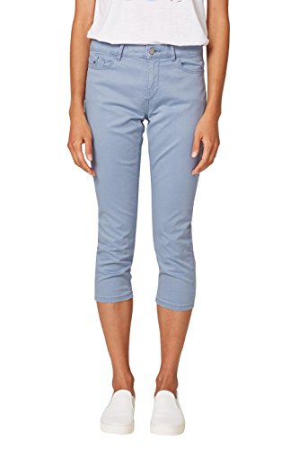 ESPRIT Damen Hose 038EE1B013, Blau (Light Blue Lavender 445), 36