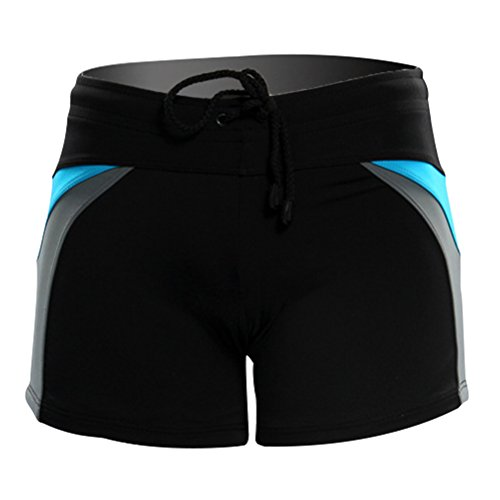 Zhhlinyuan Swimming Trunks Fashion Boxer with Front Tie Men's Pants Badebekleidung Mo Tie