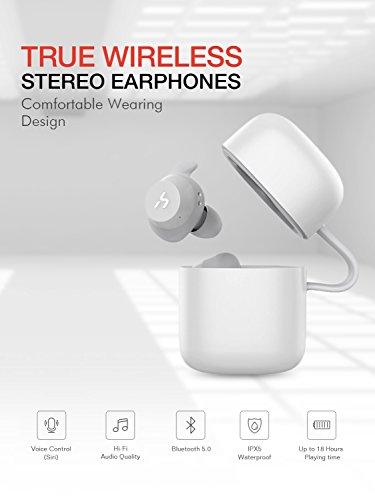 HAVIT Bluetooth Kabellose Kopfhörer in Ear V5.0, Sport Ohrhörer, IPX5 Wasserdicht, 18 Stunden Abspielzeit, Aufbewahrungsbox mit Ladefunktion,Eingebautes Mikrofon für iPhone,Samsung und Huawei, HTC - 9