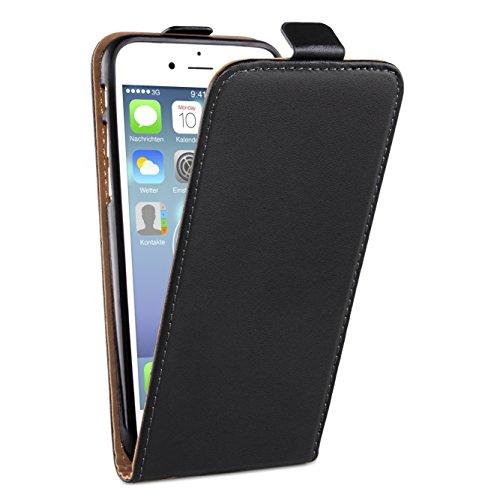 "deinPhone Apple iPhone 6 6S Plus (5.5"") KUNSTLEDER FLIP CASE Hülle Tasche Eulen Happy Family Flip Case Schwarz"