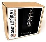 Gartenpirat LED-Baum weiß 160 cm hoch Lichterbaum 200 LED warmweiß für innen außen