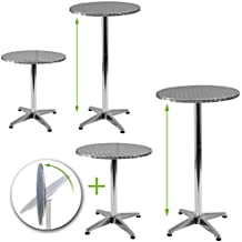 Miadomodo - 3 mesas de bar de aluminio, altura regulable entre 70 o 110 cm