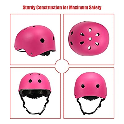 Kids Cycle Bike Helmet, Adjustable For Toddler Multi Sport BMX Bicycle Helmet, Sports Safety Protective Helme for Mountain Bike Skateboard Skating, Light Weight, Age Guide 3-8 years Boys/Girls from SOHONRT
