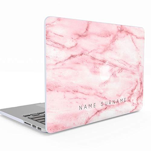 Personalisierte rosa Marmor benutzerdefinierten Namen Nachname personalisierte erste MacBook Air 13-Zoll-Gehäuse, 13-13,3 Zoll 13