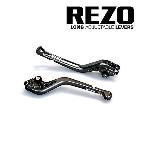 REZO V2 Longue Titane Ajustable CNC Moto Leviers Pour Yamaha YZF-R6 2005-2016, Yamaha YZF-R1 2004-2008