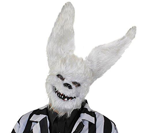 Furry Weiß Kaninchen Maske mit Zähnen und Spitzen Ohren. Halloween Fancy Dress (Weiße Maske Kaninchen)