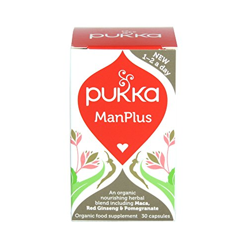 Pukka Herbs Everyday - Manplus (Inc. Maca, Red Ginseng and Pomegranate) 30 Caps Test
